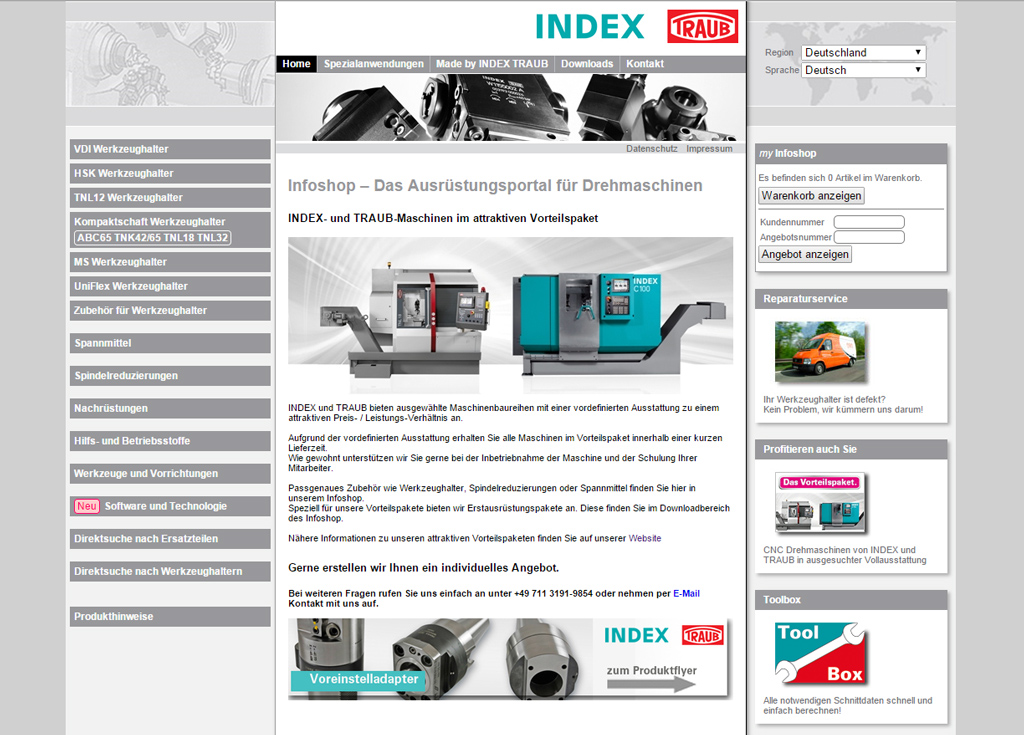 Infoshop de INDEX y TRAUB